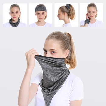 WorthWhile Cycling Bandana Face Shield Triangle Ice Silk Cool Scarf Outdoor Sport Women Men Headband Faceshield Mask Neck Warmer 1