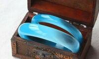 Beautiful Natural 4 Differ Wide Sky Blue Opal Gem Stone Lucky Bangle Handmade Woman S Bracelet