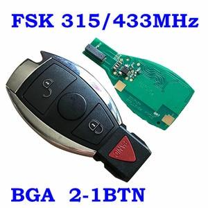 Image 3 - Smart Remote Key 315MHz 433MHz Auto Auto Fit Für Mercedes Benz 2000 + NEC BGA Typ Remote Key fob Für MB Mit Emeregcny Schlüssel Klinge