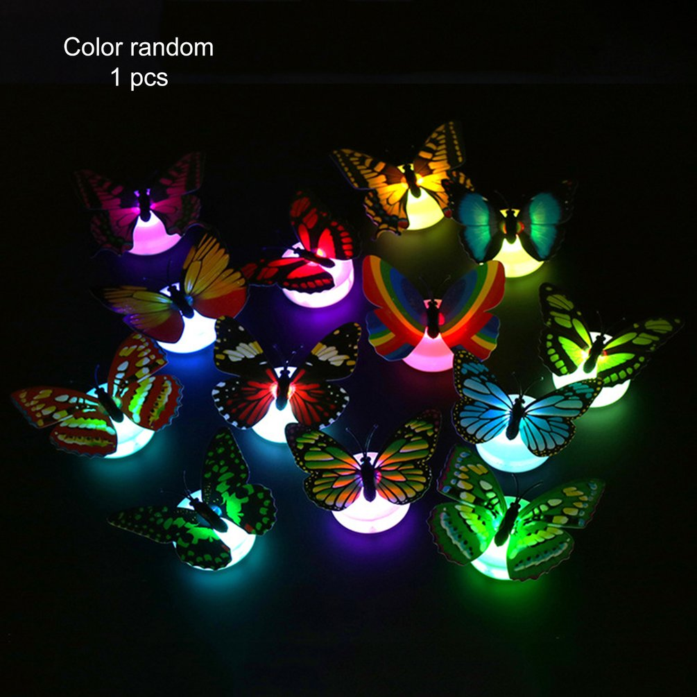 Creative Cute 3D Butterfly LED Light Color Changing Night Light Home Room Desk Wall Decor For Bedroom Living RoomCreative Cute 3D Butterfly LED Light Color Changing Night Light Home Room Desk Wall Decor For Bedroom Living Room