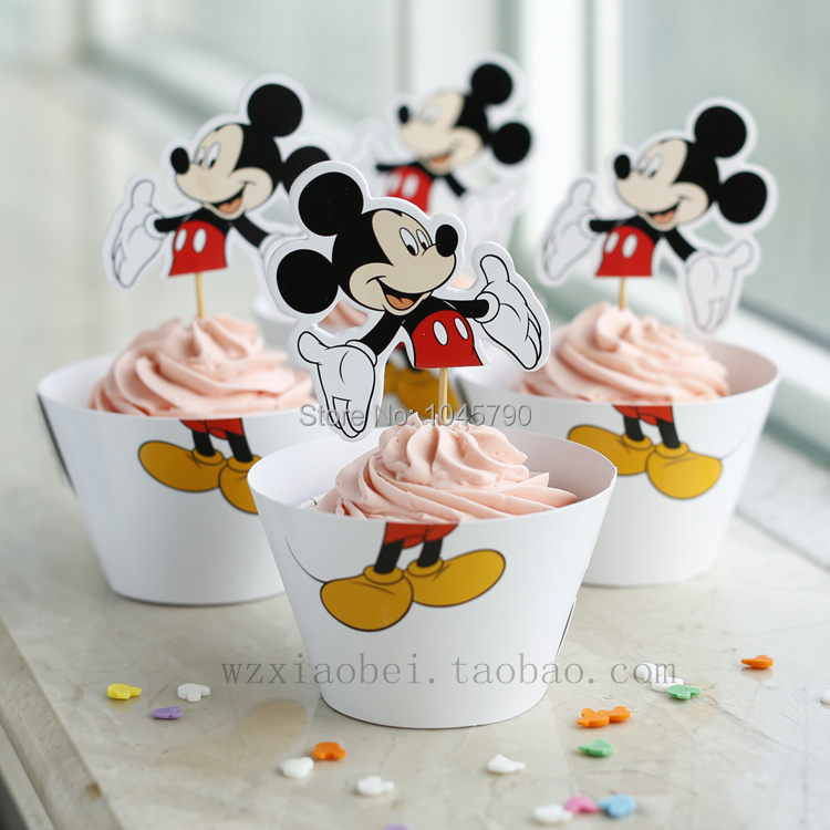 Envío libre 24 unids Mickey envolturas de la Magdalena de la ...