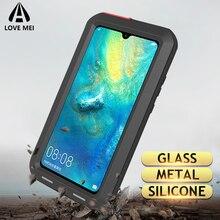 Custodia in metallo Love Mei per Huawei Mate 20 Lite Mate 10 Pro P20 P30 Pro Nova 4 4E custodia antiurto antiurto per telefono custodia rigida per armatura