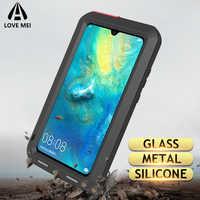 Love Mei Metal Case For Huawei Mate 20 Lite Mate 10 Pro P20 P30 Pro Nova 4 4E Shockproof Anti-Fall Phone Cover Rugged Armor Case