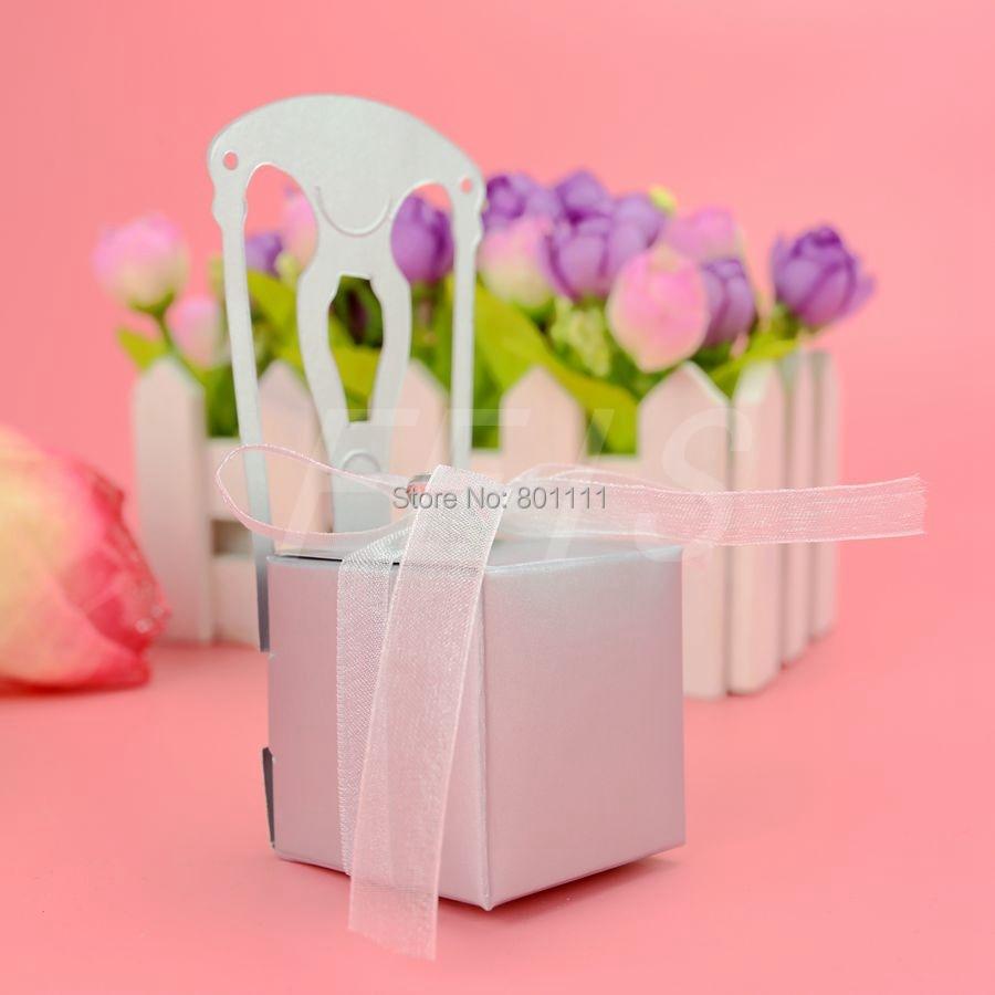 Miniature Silver Chair Favor Box paper box wedding favor boxes Party ...