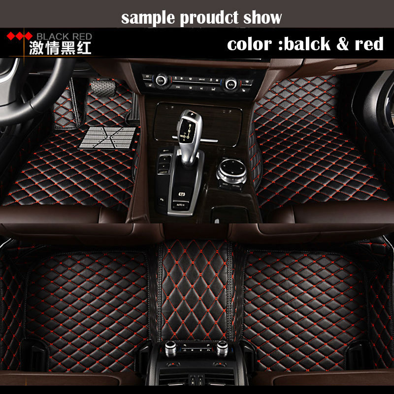 Custom Car floor mats Case for Toyota Camry Corolla RAV4 Mark X Crown Verso Cruiser car-styling leather Anti-slip carpet liners custom fit car floor mats for mitsubishi lancer asx pajero sport v93 3d car styling all weather carpet floor liner ry204