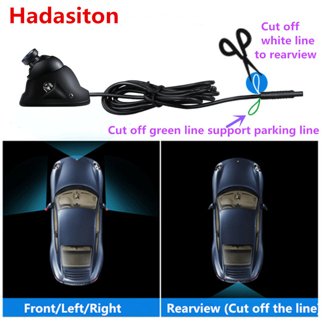 Universal HD CCD Car camera night vision use for front/left side/right side/rearview camera