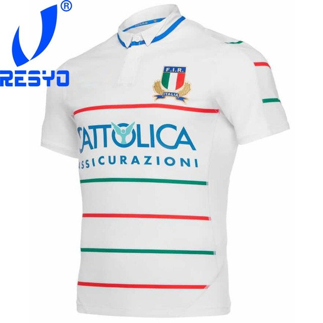 RESYO for 2019 Italy  Men original Home/Away Rugby Jersey Size:S-3XL Free Shipping