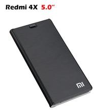 Xiaomi Redmi 4x 케이스 럭셔리 PU 뒷면 커버 케이스 xiaomi redmi 4x 플립 보호 전화 가방 Fundas 수호자 5.0 인치