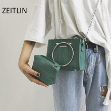 ФОТО small bag female 2018chic korean style new wave korean version of the wild messenger bag ring chain mini handbag s050