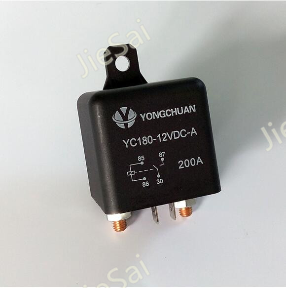 YC180 2 pin 120A/200A 12V/24VDC high current auto relay and car relay with mounting hole 2015 new arrival 12v 12volt 40a auto automotive relay socket 40 amp relay