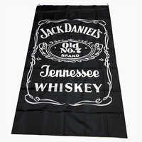 Polyester Fabric Printing 3*5ft jennessee sour mash whiskey banner ,jack daniel's happy hour flag