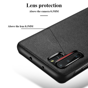 Image 3 - For Huawei P30 Pro GEnuine Leather Flip Case Cover Original Cenmaso  Smart Touch Clear View Protective Phone Case