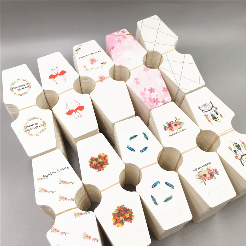10Pcs New Arrivals 12*4.5cm Kraft Paper Necklace Packing Cards Jewelry Bracelet Displays Cards Paper Hand Chain/Necklace Cards
