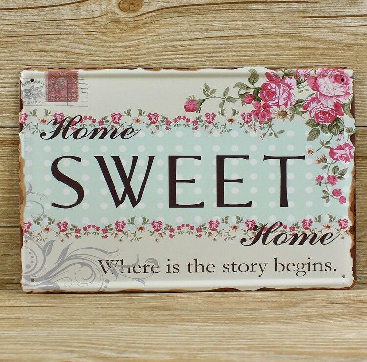 Home Sweet Home Vintage popular vintage metal plaques-buy cheap vintage metal plaques lots