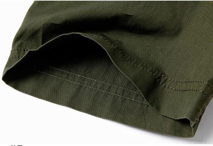 Plus Size xxxxxl Summer Men\'s 100% Cotton Shirts Solid Color Fitness Dress Short Sleeve Shirts Casual Outdoor Men AFS JEEP 5001 (9)