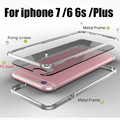 Metal Case for iphone 6 s Бампер Металла Сторона с Прозрачным ПК Случаи задняя Крышка для iphone6 6 S 6 плюс 7 плюс Алюминиевая Рама Case