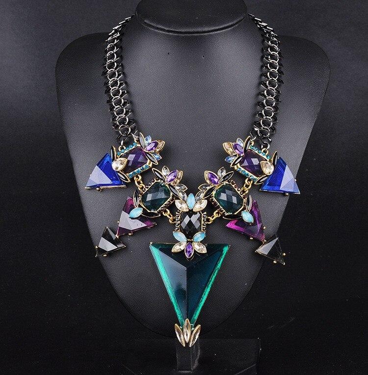2015 New Fashion Jewelry For Women Big Triangle Rh...
