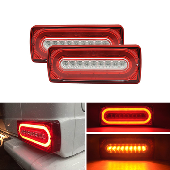 Dynamic Turn Signal Light Led Rear Bumper Brake Running Fog Light Assembly Kits For Benz W463 G-Class G500 G550 G55 AMG