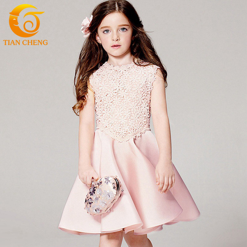New Sleeveless Girls Dress 2016 Summer Fashion Gowns For Teenagers 3-12 Dresses Baby Girl Kids Princess Dress For Teenagers girl dress 2017 summer girls style fashion sleeveless printed dresses teenagers party clothes party dresses for girl 12 20 years page 2