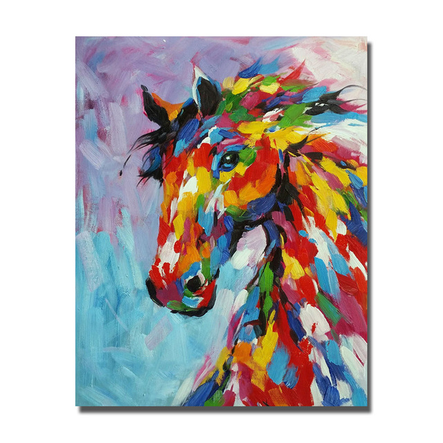 Caballo de color abstracto cuadros murales sin marco y - Enmarcar lienzo ...