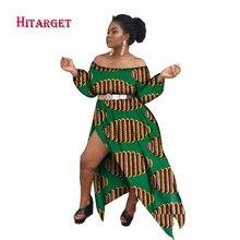 2017 Vintage African Dresses for Women Bazin Riche Kanga Clothing Big Robe Vestidos Dashiki Wax Print WY2061