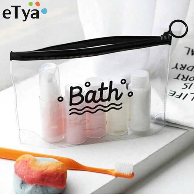 ETya путешествия косметички из ПВХ Водонепроницаемый прозрачный Для женщин портативный для макияжа мешок туалетных Организатор сумка для хранения косметики мыть мешок