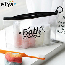 907a7a61e ETya viaje bolsas de cosméticos PVC impermeable transparente mujeres  portátiles maquillaje neceser organizador almacenamiento maquillaje Wash