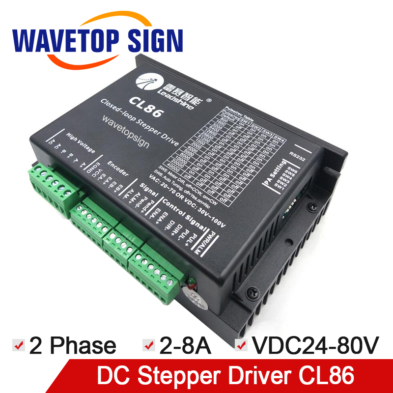 leadshine CL serial close loop stepper motor driver CL86 2 phase input voltage VDC24-80V current 2-8A match 86CME serial motor original leadshine 2 phase driver dm542 input voltage dc18 48v current 1 0 4 2a match with the motor 57 60 86
