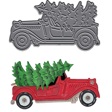 Truck Carriage Christmas Tree Die Metal Cutting Dies Stencil for DIY Scrapbooking Album Embossing Paper Card Decorative Template