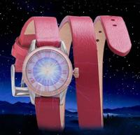 2019 new double circle around wrist light kinetic energy belt female watch leather strap trend small dial simple fashion watch
