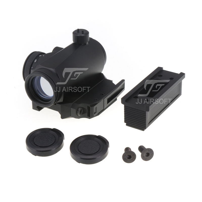 ФОТО JJ Airsoft Micro 1x24 Red Dot with BOBRO Style High Mount / QD Low Mount and Riser (Black)