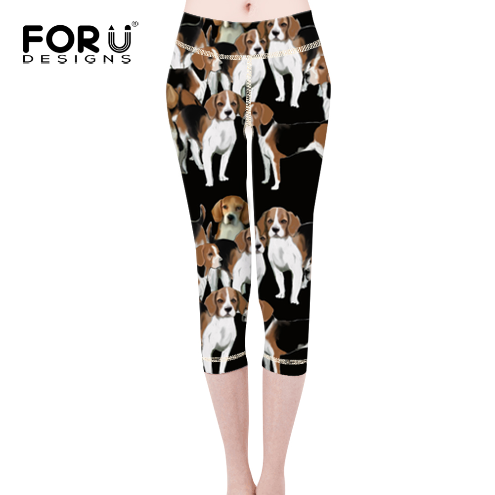 FORUDESIGNS Basset Hound Printing Legging Women Funny Puppy Dog Workout Pants Ladies Fashion Pants for Female Kawaii Bottom