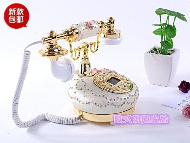 Телефон стационарный телефон старинные антикварные резные античный сад высококачественный старый кабель специальное предложение