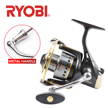 RYOBI ECUSIMA VI fishing spinning reel 2000/3000/4000/6000/8000 4BB 8kg Max drag fishing wheels full metal spool saltwater new ryobi accurist 2000 3000 4000 fishing spinning reel 4 1bb 3kg 5kg max drag reels fishing wheels metal spool saltwater