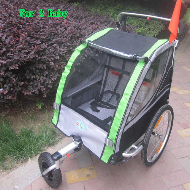 Lovebaby 20 Inch Air Wheel And Aluminum Alloy Frame Baby Jogger Bike Trailer Strong Shock Proof Stroller With Hand Brake