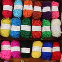 12 Roll Colorful Combed Soft Baby Milk Cotton Yarn Fiber Velvet Yarn Hand Knitting Wool Crochet Yarn for DIY Sweater