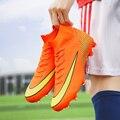Мужская футбольная обувь для взрослых с высоким берцем  футбольная обувь  кроссовки  профессиональные кроссовки  новый дизайн  футбольные б...