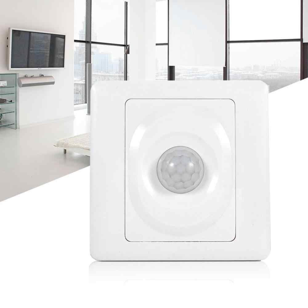 Adjustable Infrared IR Body Motion Sensor Switch Wall Mount Control Light Automatic Module Light On Off Switch White