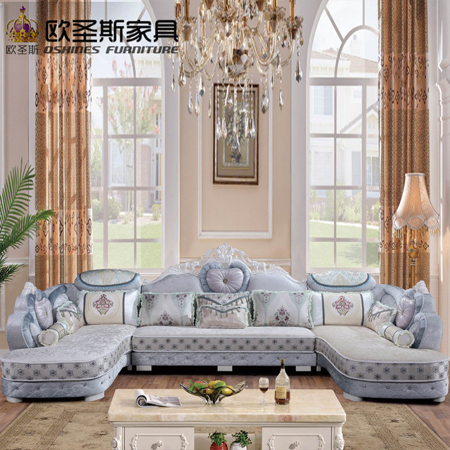 New Northern Europe Small Coffee Table Size Combination Of: Luxury U Shaped Sectional Living Room Furniutre Antique