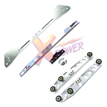 Xpower-полированный задний нижний рычаг управления подрамник Скоба галстук бар для Honda Civic 92-95 EG EG6