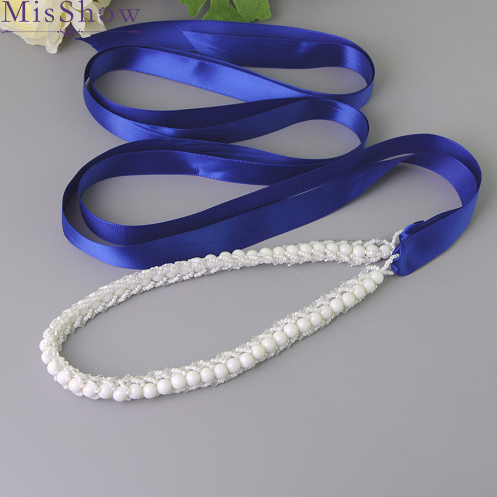 Top Sale Wedding Belts Sashes Pearls Beaded Evening Party Gown Dresses Wedding Accessories Bride Waistband Bridal Sashes Belts in Bridal Blets from Weddings Events