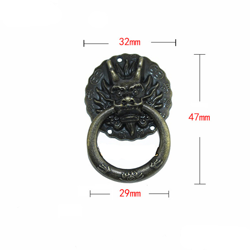 Vintage Dragon  Head Furniture Door Pull Handle Zinc Alloy Cabinet Dresser Drawer Knobs Small Handle,32*47mm,1PCVintage Dragon  Head Furniture Door Pull Handle Zinc Alloy Cabinet Dresser Drawer Knobs Small Handle,32*47mm,1PC
