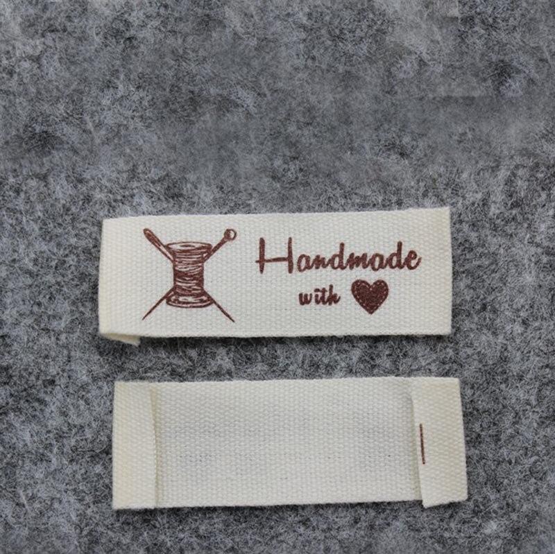 Высокое качество, Детская Хлопковая этикетка,, этикетка «сделай сам» ручной работы с надписью «love» - Цвет: thread 2