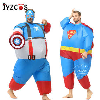 JYZCOS Purim Inflatable Fat Superman Batman Captain America Halloween Costume for Adult Kids Party Cosplay Superhero Fancy Dress - DISCOUNT ITEM  35 OFF Novelty & Special Use