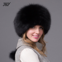 Hot Warm Autumn And Winter Women S Fox Fur Hat Bomber Hat Snow Cap Fur Hat