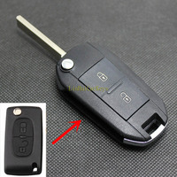 10 Pcs/ Lot PINECONE for PEUGEOT 307 308 408 Key Shell 2 Buttons Uncut Groove Blade Upgrade&Modified Car Key Case Cover