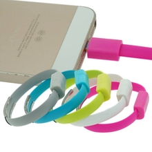22cm Wrist Band Usb Data Cable Noodle Portable Sync Charger Bracelet Charger for Apple iPhone 5 5s 6 6s Plus iPad Air Mini 2 3