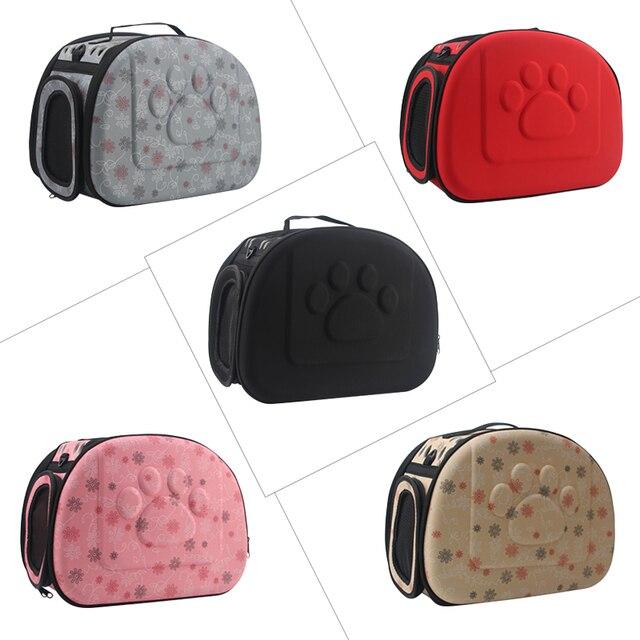 Dog Carrier Bag Portable Cats Handbag Foldable Travel Bag Puppy Carrying Mesh Shoulder Pet Bags S/M/L 1