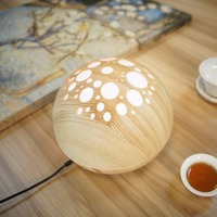 PREUP 12W Air Humidifier Aroma Essential Oil Diffuser With Wood Grain LED Lamp Ultrasonic Electric Aromatherapy