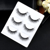 3 Pairs New Fashion Natural Cosmetic Eye Lashes Makeup Handmade Thick Long Fake Cross False Eyelashes Beauty False Eyelashes